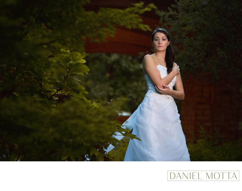 Bride at Grapevine Botanical Gardens