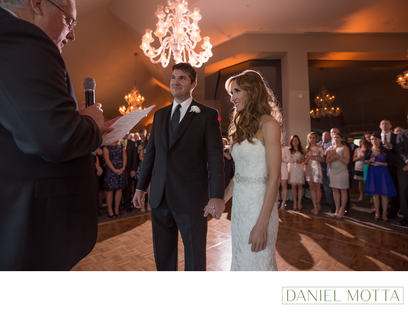 Bride and Groom at La Cima Club in Irving