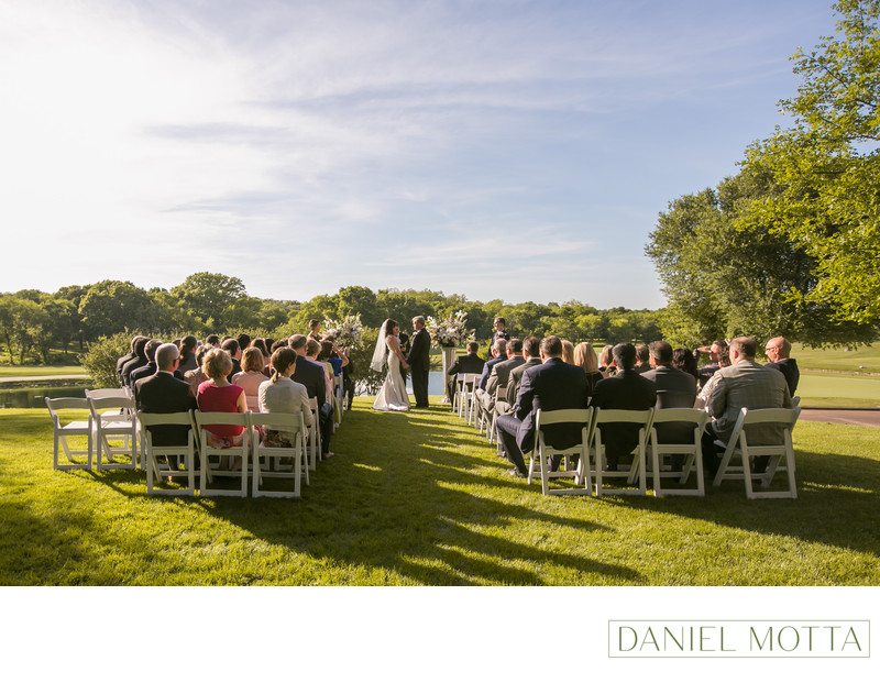 Outdoor Wedding Photo at Glen Eagles Country Club