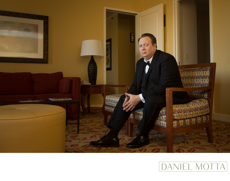 Photograph of Groom at Legacy Marriott in Plano