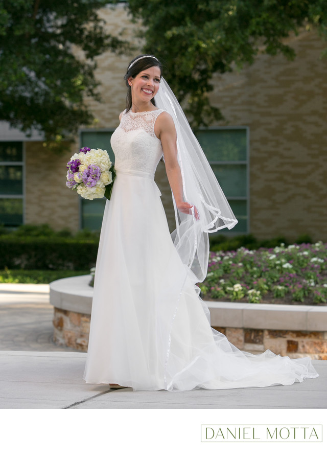 Bride at the Texas Christian University in Fort Worth