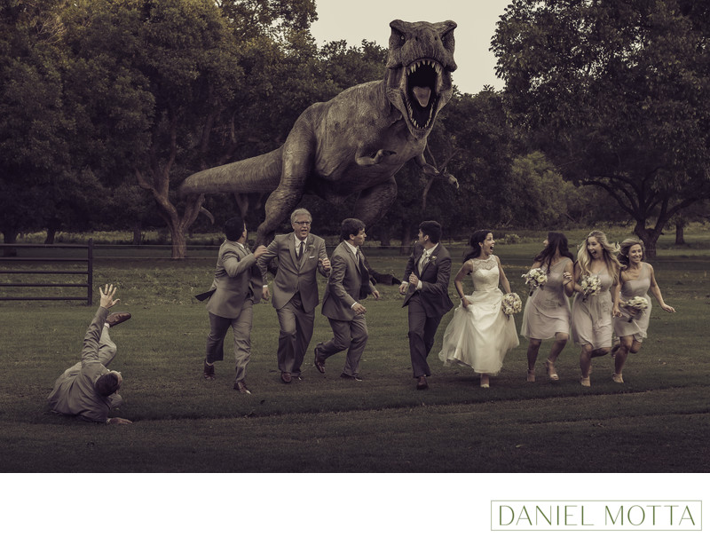 Fun Wedding Photographer in Azle at The Orchard