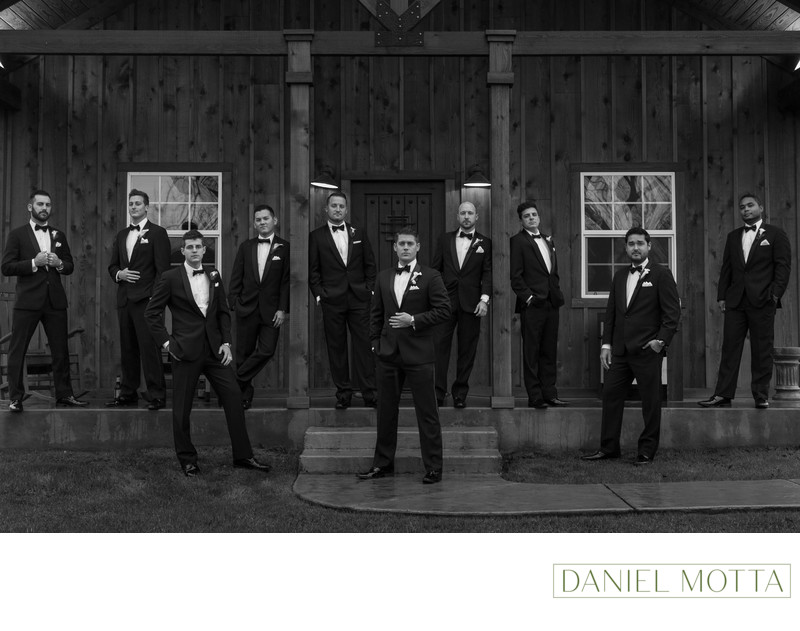 Groomsmen Photograph at The Orchard in Azle