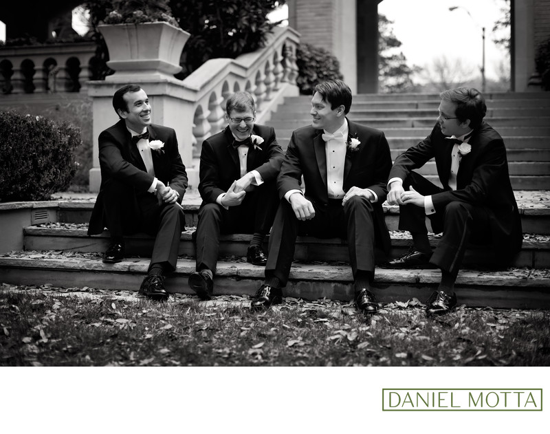 Dallas Groomsmen Photo at Highland Park Wedding