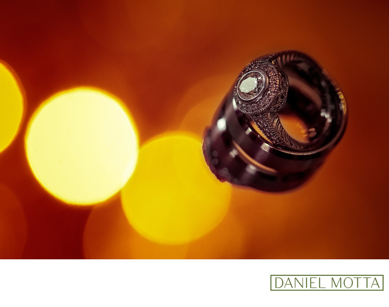Wedding Photograph of Bride and Grooms Rings