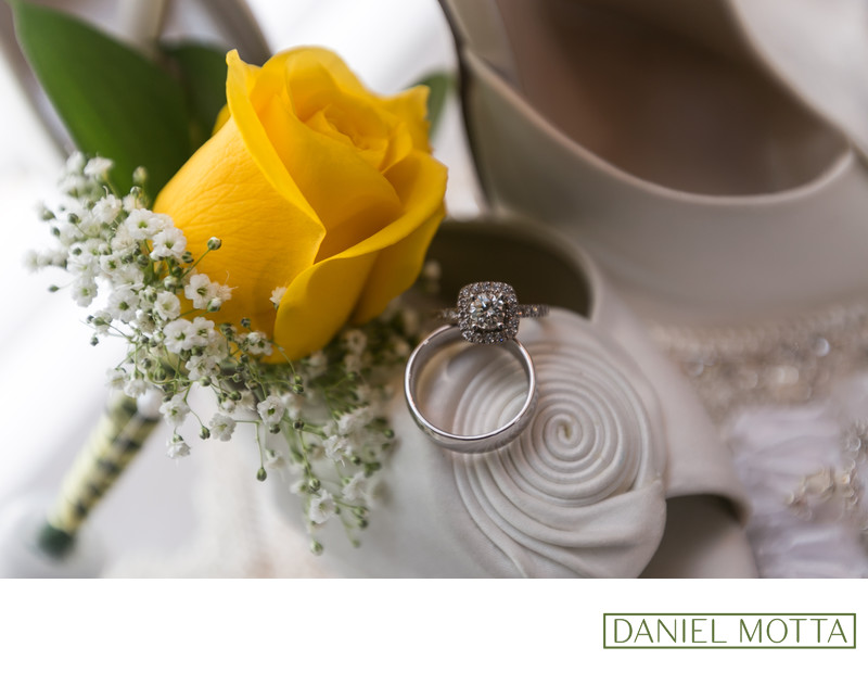 McKinney Wedding Photograph of Flowers, Rings and Shoes