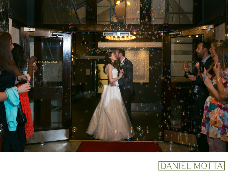 Dallas Wedding Photograph of Groom and Bride Kissing