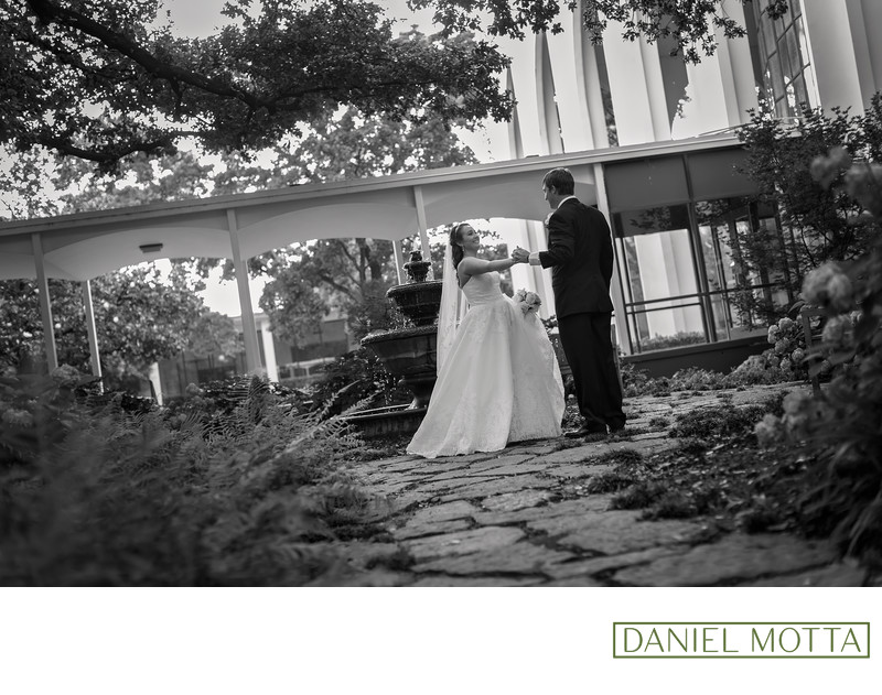 Wedding Photo of Couple Dancing at St. Monica Church
