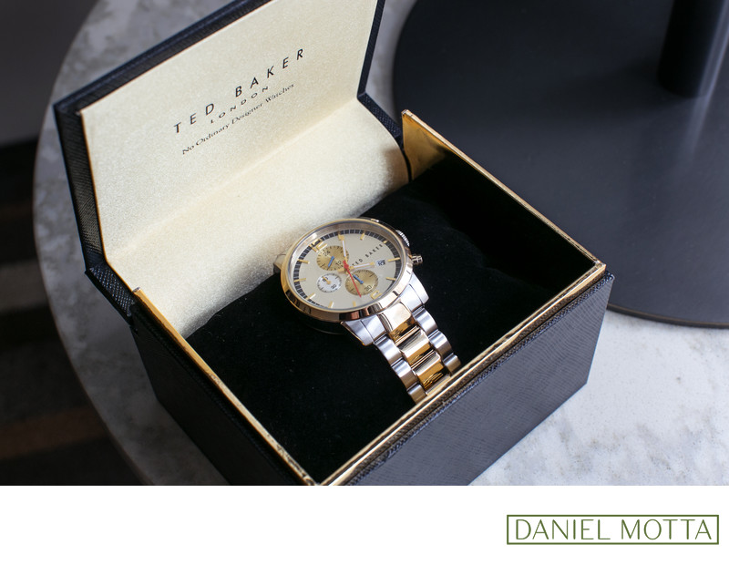 Dallas Wedding Photo of Ted Baker Watch for Groom