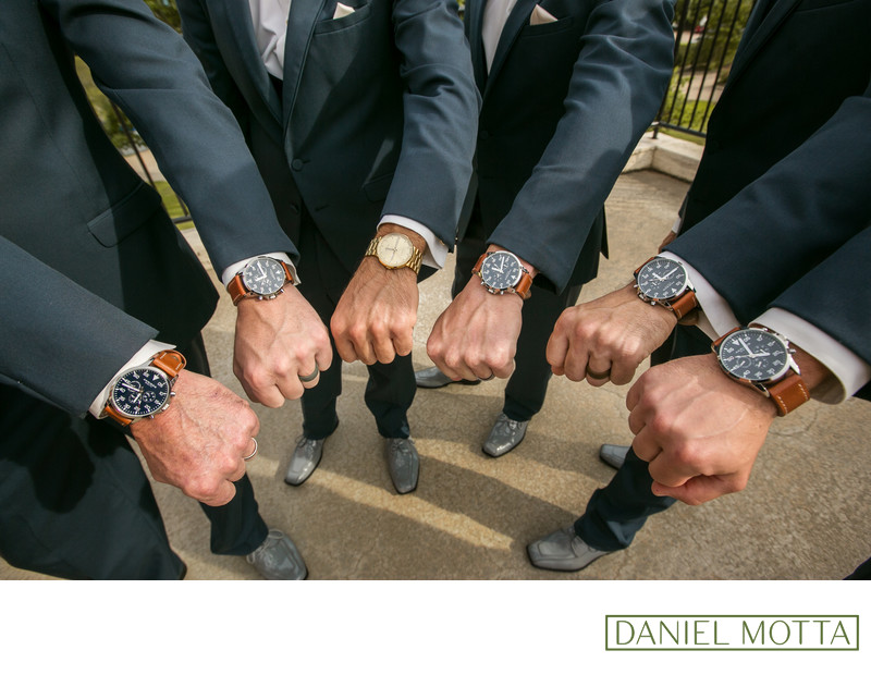 Dallas Wedding Photograph of Grooms Watch's