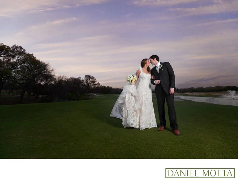 Wedding Photography of Newlywed Couple Kissing