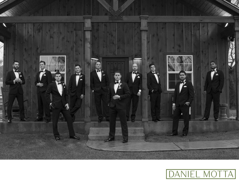 Wedding Photograph of Groomsmen at The Orchard