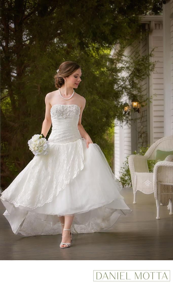 Bride at Bingham House in Mckinney