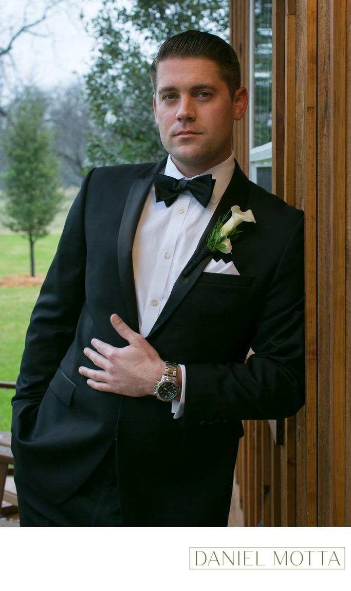 Photo of Groom at the Orchard in Azle, Texas