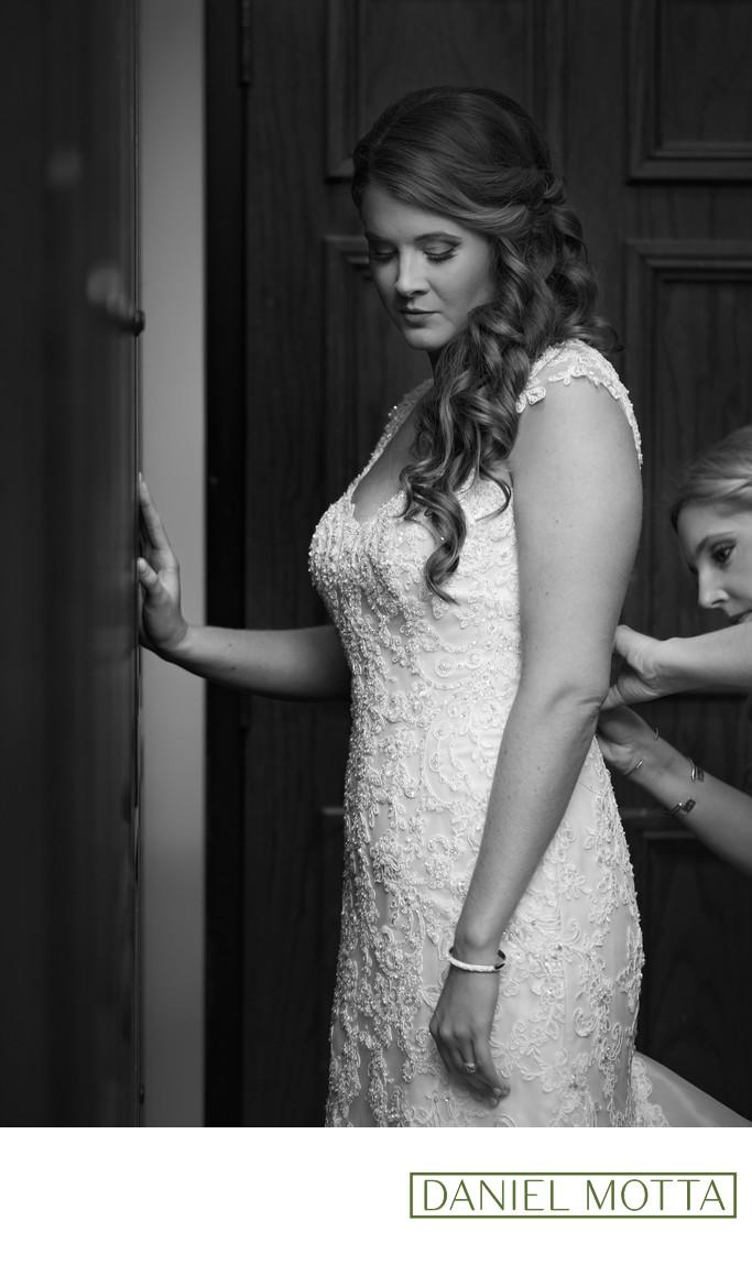 Bridesmaid Putting Final Touches on Glen Eagles Bride