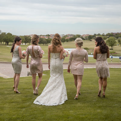 Bride and Bridesmaids at Four Seasons Hotel in Irving