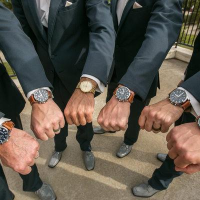 Wedding Photograph of Groomsmen at Filter Buildings