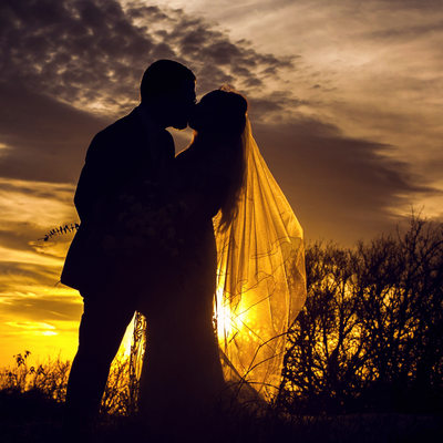 Bride and Groom at Arbor Hills Nature Preserve in Plano
