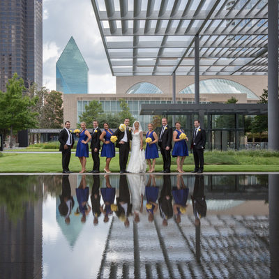 Outdoor Wedding Photography at AT&T Performing Arts
