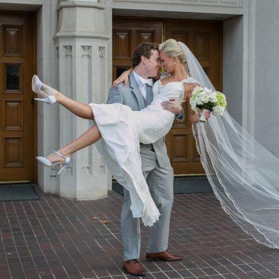 Fun Wedding Photography at St. Thomas Aquinas Church