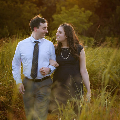 Engagement at Arbor Hills Nature Preserve in Plano