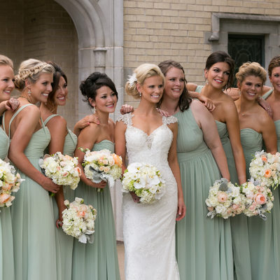 Dallas Candid Wedding Photograph of Bride & Bridesmaids
