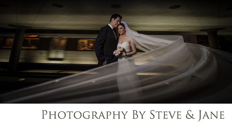 Best DC Metro Station Wedding Portraits