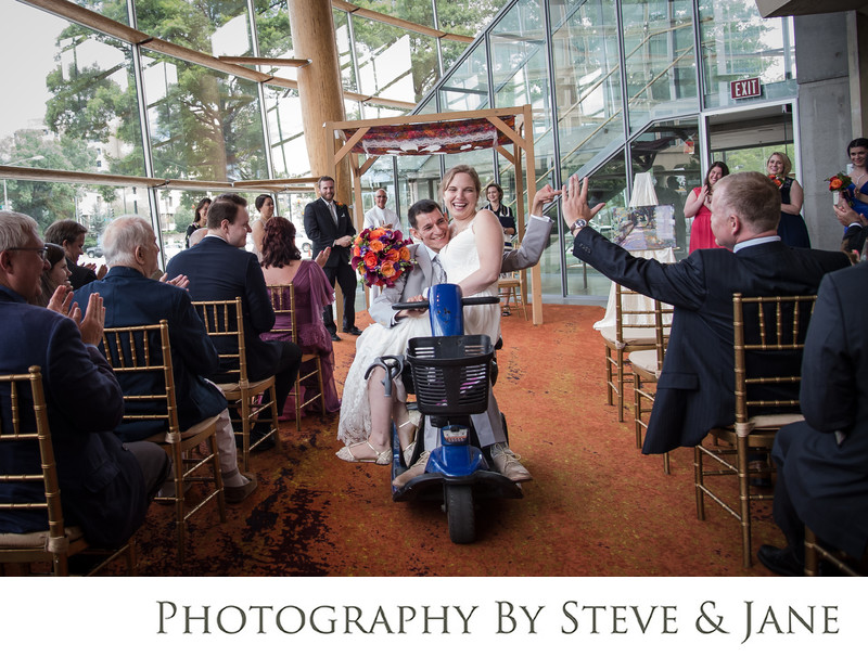 Arena Stage wedding in the Molly Smith Study lobby