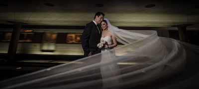 Best DC Metro Station Wedding Portraits