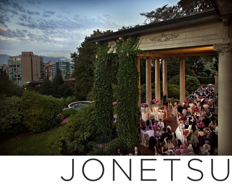 Signature Jonetsu wedding photo at Hycroft reception