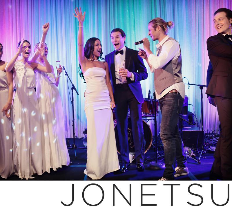 Wedding reception surprise performance Trevor Guthrie