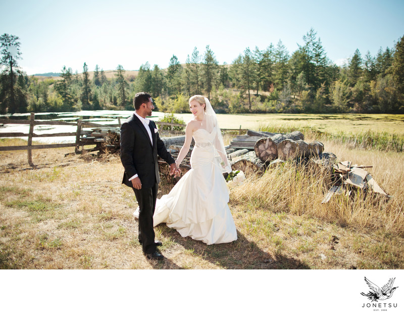 Okanagan wedding portrait in Vernon Sparkling Hill