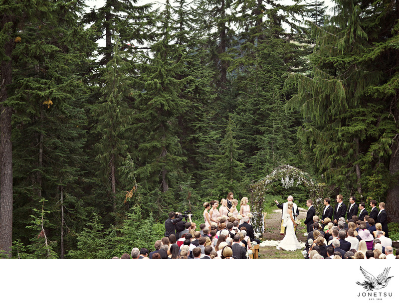 Grouse Mountain luxury forest wedding ceremony