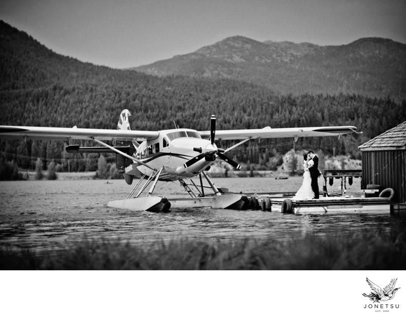 Whistler float plane wedding photos