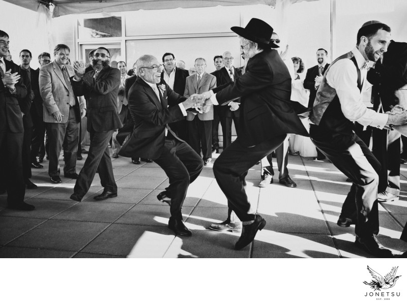 Vancouver Jewish wedding photographer hora fun