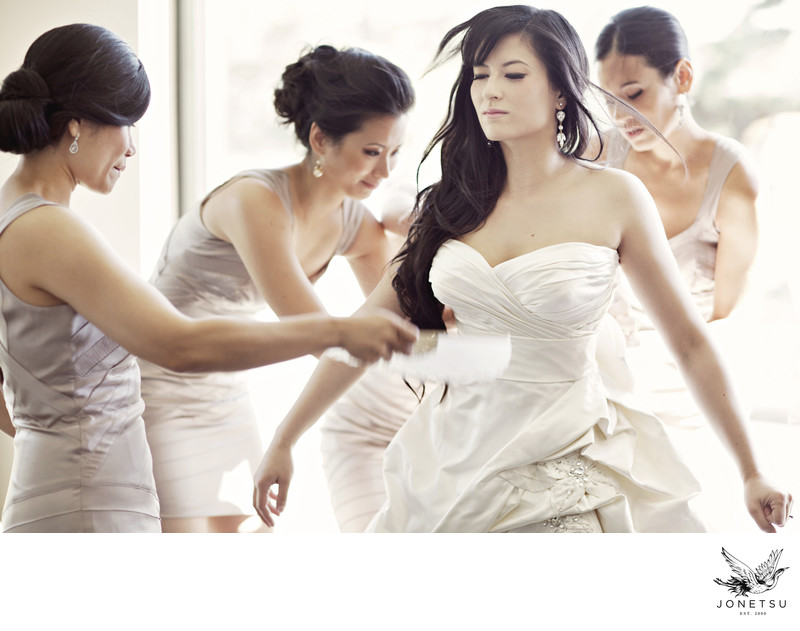 Ucluelet Black Rock Resort wedding bridesmaids prepare