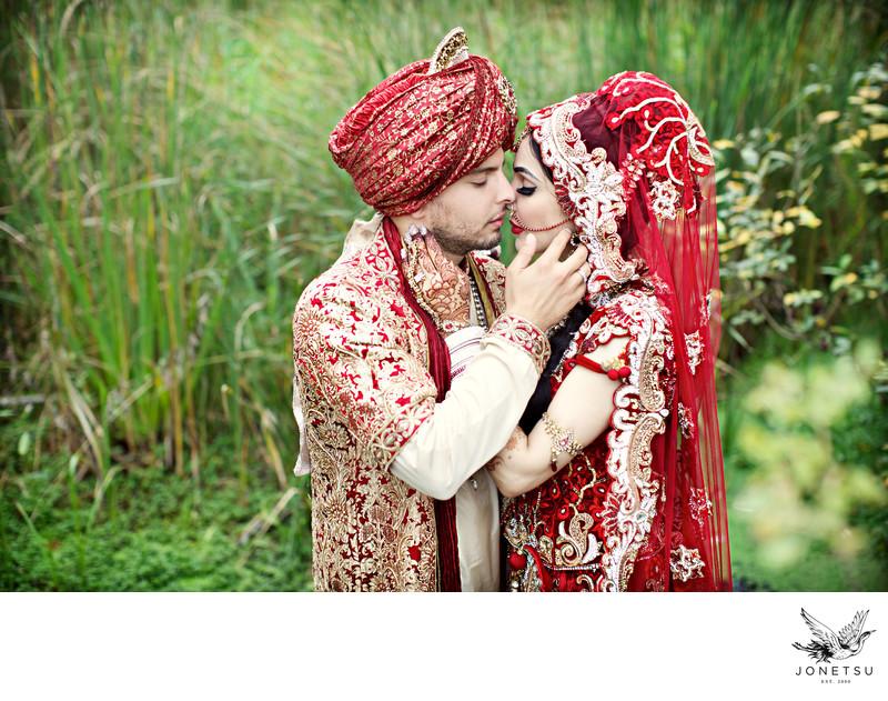 Richmond BC Indian wedding portrait intimate