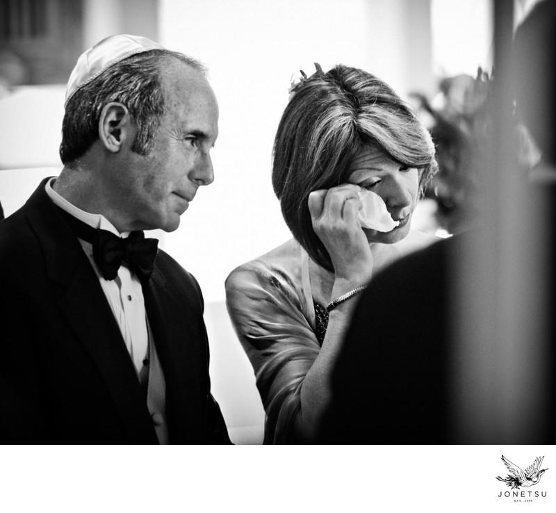 Jewish wedding ceremony parents