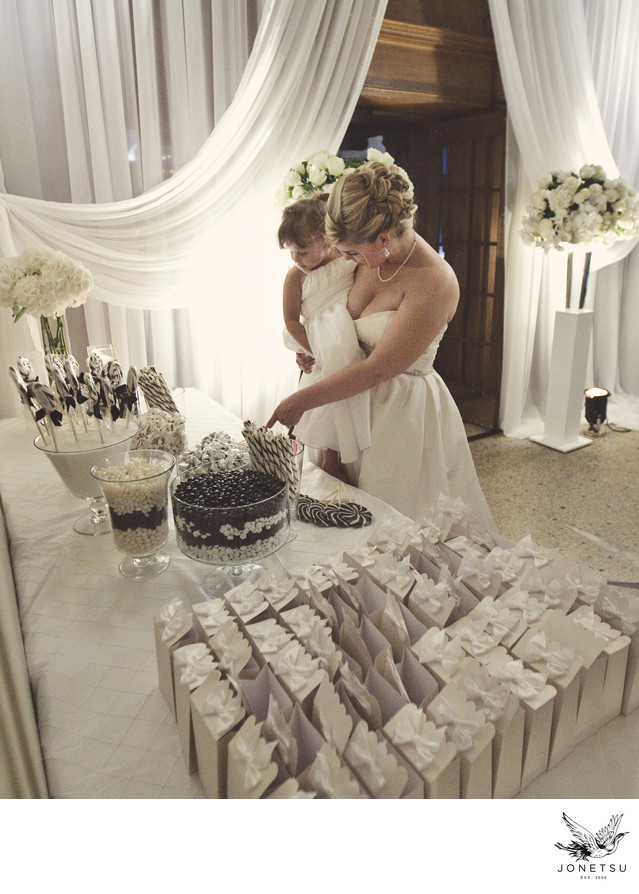 Vancouver Club wedding reception photograph candy table