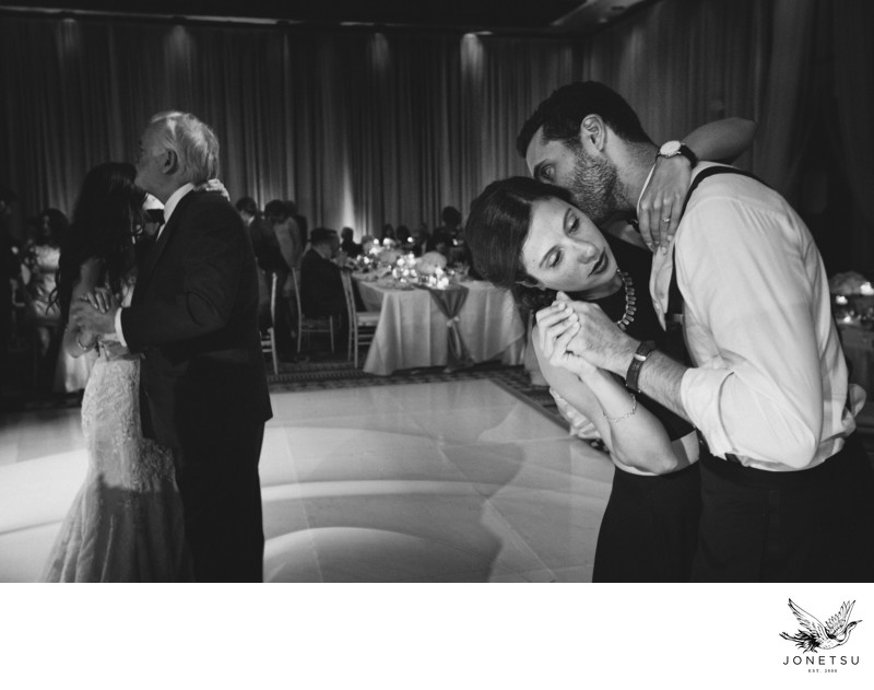 slow dancing moment at Four Seasons Vancouver ballroom