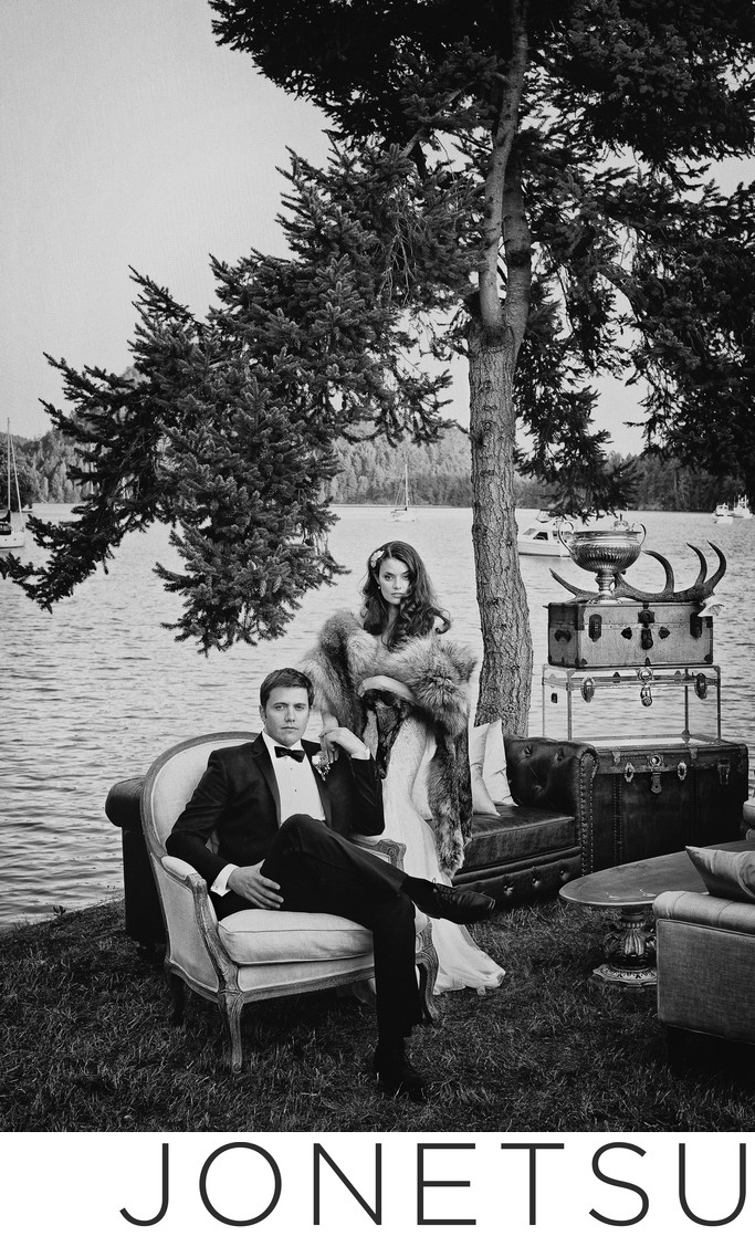 Great Gatsby wedding Pender Island photography