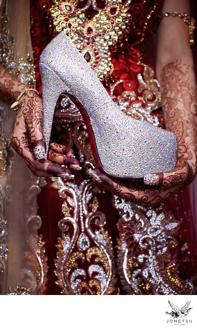 Christian Louboutin for lux Indian wedding in Vancouver
