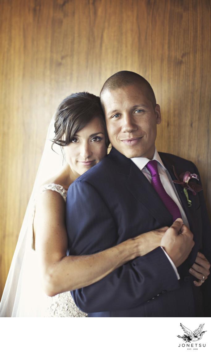 Pacific Rim wedding portrait post-ceremony