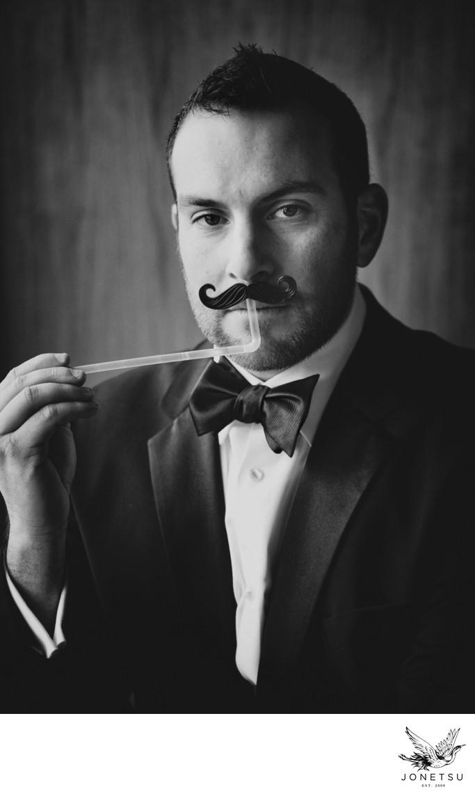 Vancouver groom portrait at Fairmont Pacific Rim