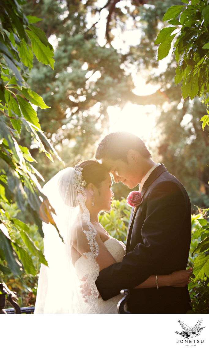 Hycroft Manor wedding reception moment at sunset