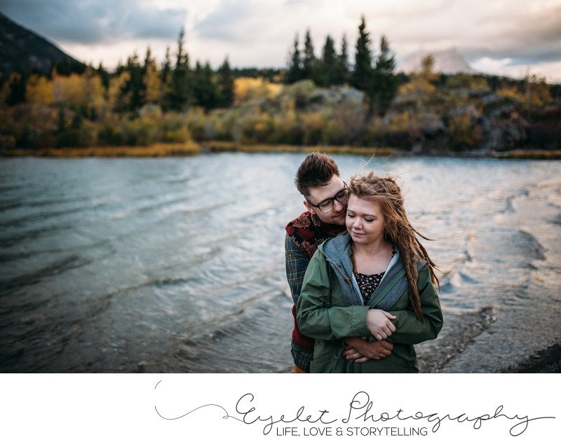 Crowsnest Lake Mountain Wedding and Engagement Photos