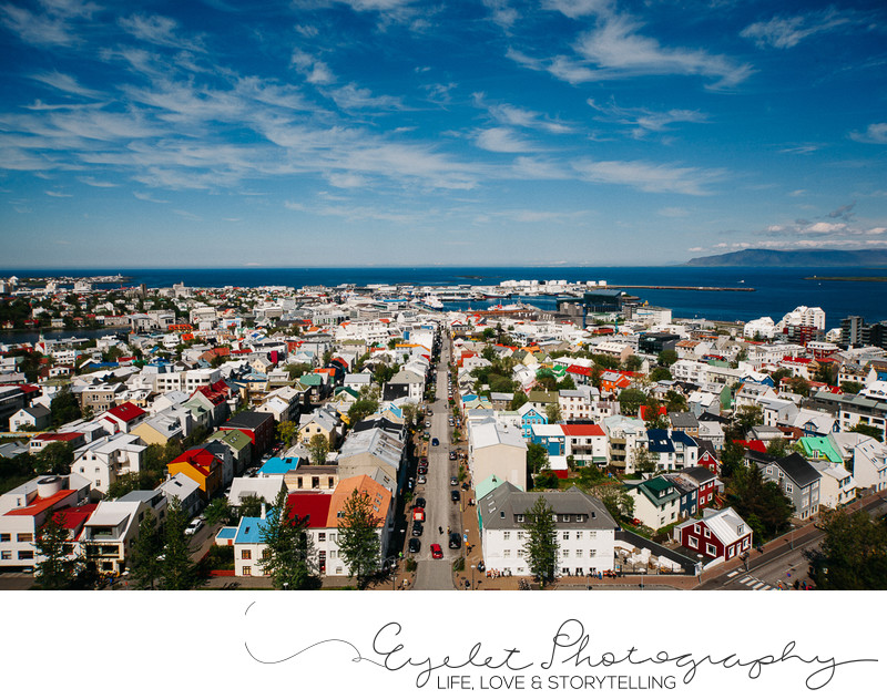 Bird Eye View of Reykjavik From Hallgrimskirkja Church