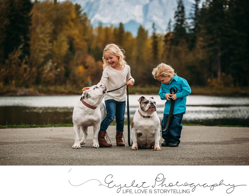 Fernie Family Photographer Kids and Dogs