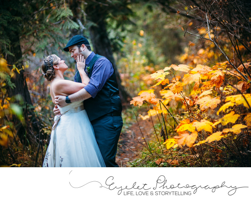 Island Lake Lodge Weddings Fernie in Fall