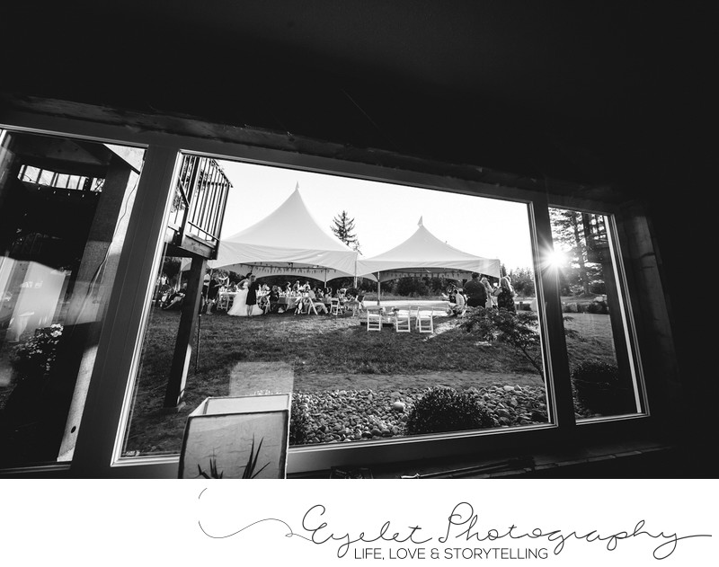 Venue Wedding Photography Backyard Tent Sunset Reception
